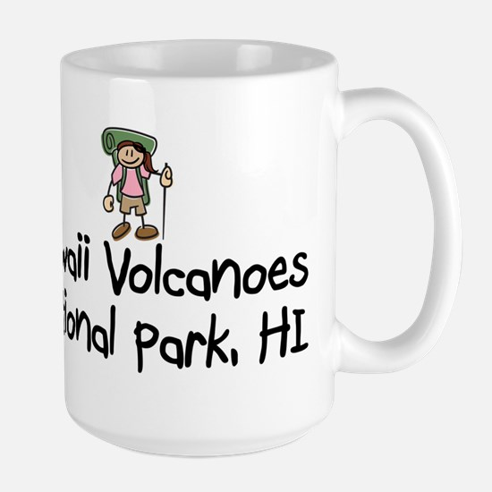 Hike Hawaii Volcanoes (Girl) Large Mug