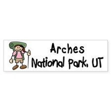 Hike Arches (Girl) Bumper Bumper Sticker