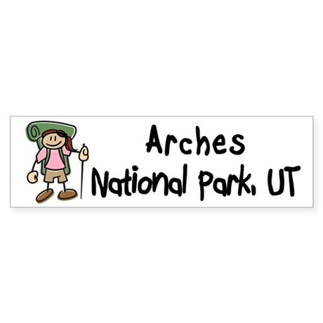 Hike Arches (Girl) Bumper Sticker