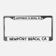 Happiness is Newport Beach License Plate Frame