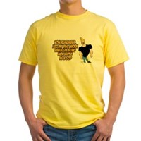 I Do My Best Work Being Worshipped Yellow T-Shirt