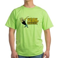 Johnny Bravo Yeah Whatever Green T-Shirt