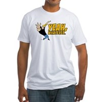 Johnny Bravo Yeah Whatever Fitted T-Shirt