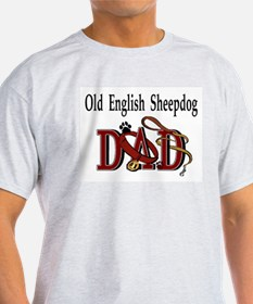 Old English Sheepdog Dad Ash Grey T-Shirt