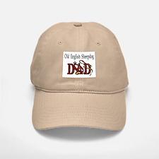 Old English Sheepdog Dad Baseball Baseball Cap