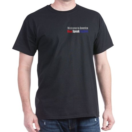 Speak English Black T-Shirt