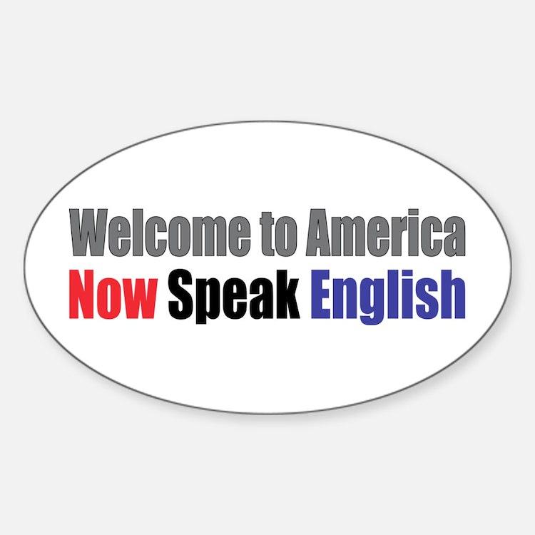 Speak English Oval Decal