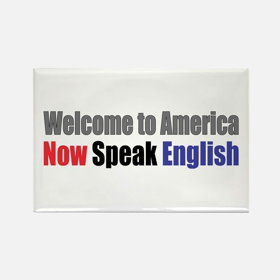 Speak English Rectangle Magnet