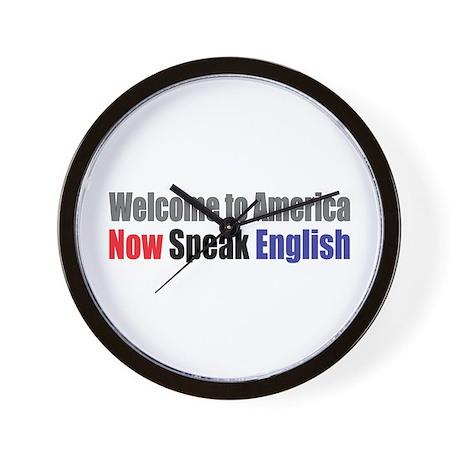 Speak English Wall Clock