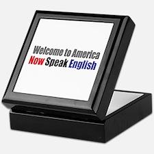 Speak English Keepsake Box