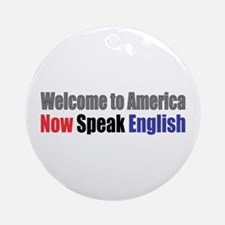 Speak English Ornament (Round)