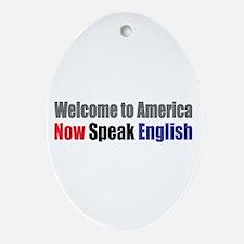 Speak English Oval Ornament