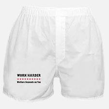 Work Harder Boxer Shorts