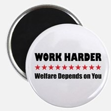 "Work Harder 2.25"" Magnet (10 pack)"