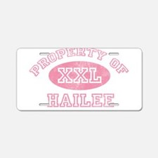 Property of Hailee Aluminum License Plate