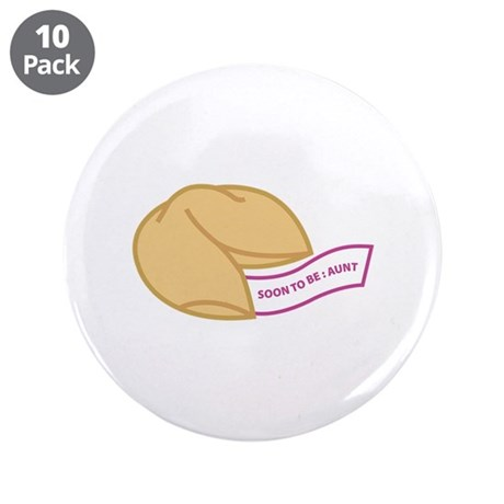 """Soon to be Aunt 3.5"""" Button (10 pack)"""