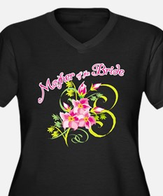 Mother of the Bride Women's Plus Size V-Neck Dark