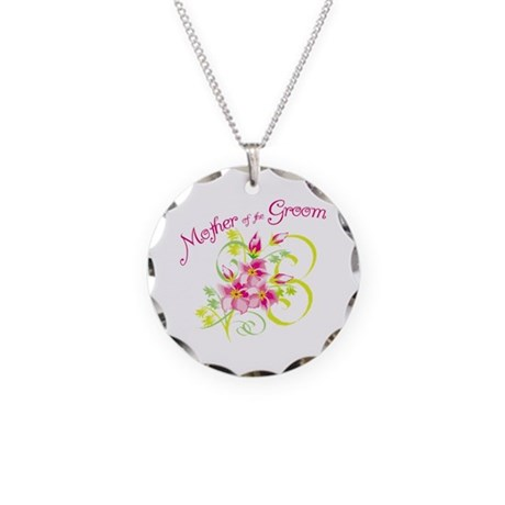 Mother of the Groom Necklace Circle Charm