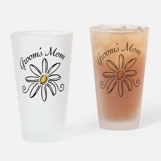 Daisy Mother of Groom Drinking Glass