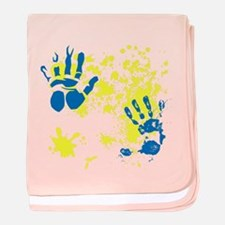 Paint Splash Design baby blanket