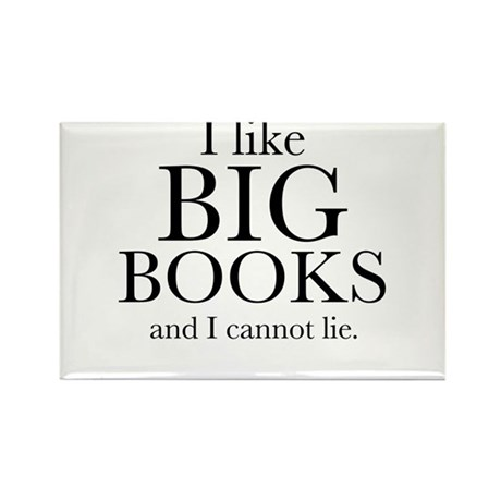 I LIke Big Books Rectangle Magnet (10 pack)