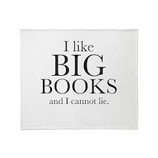 I LIke Big Books Throw Blanket
