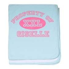 Property of Giselle baby blanket