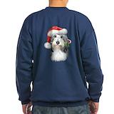 Bearded collie christmas Sweatshirt (dark)