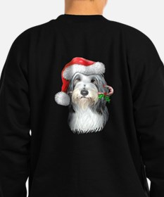 Bearded Collie Christmas Sweatshirt (dark)