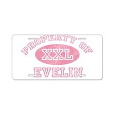 Property of Evelin Aluminum License Plate