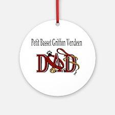 Petit Basset Griffon Vendeen Ornament (Round)