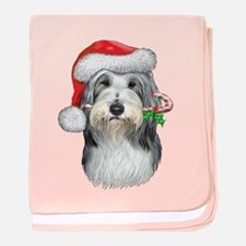 Bearded Collie Christmas baby blanket
