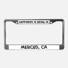 Happiness is Merced License Plate Frame