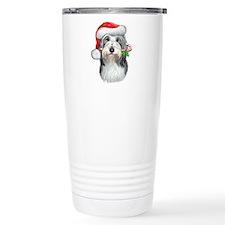 Bearded Collie Christmas Travel Mug