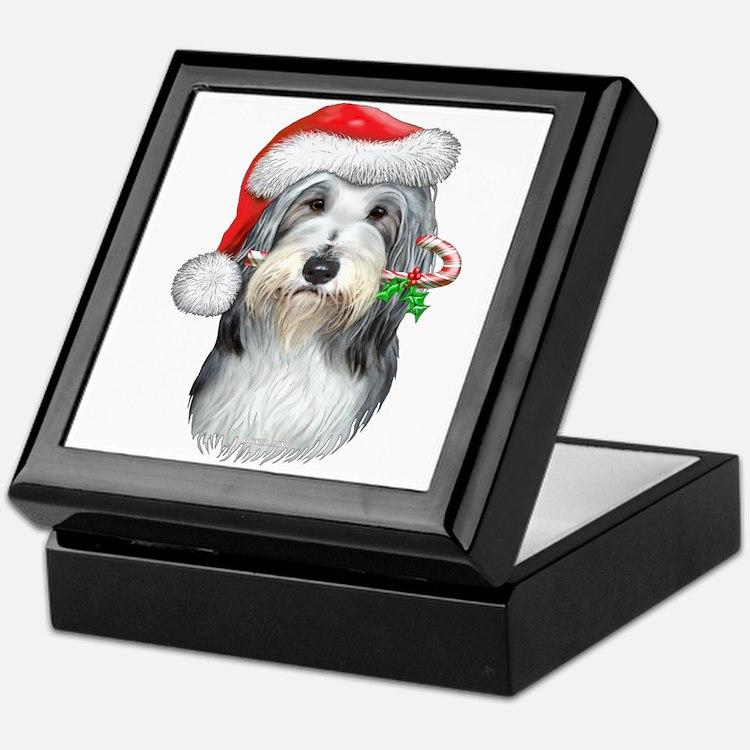 Bearded Collie Christmas Keepsake Box