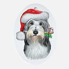 Bearded Collie Christmas Ornament (Oval)