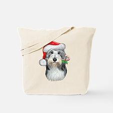 Bearded Collie Christmas Tote Bag
