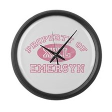 Property of Emersyn Large Wall Clock