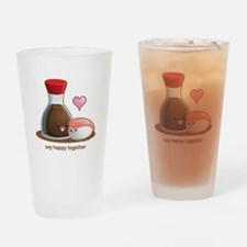 Soy happy together Drinking Glass
