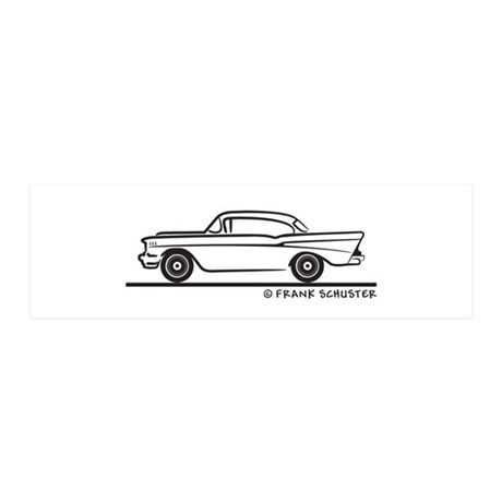 1957 Chevy Hardtop Coupe 21x7 Wall Peel
