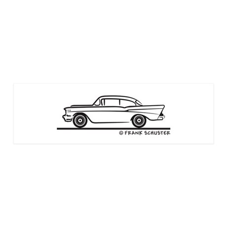 1957 Chevrolet Sedan Two Door 21x7 Wall Peel