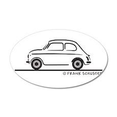 Fiat 500 Cinquecento 22x14 Oval Wall Peel