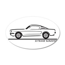 1965 Ford Mustang Fastback 22x14 Oval Wall Peel