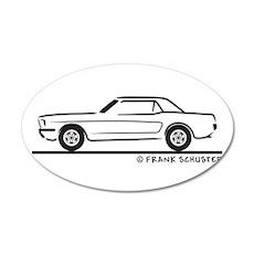 1966 Ford Mustang Hardtop 22x14 Oval Wall Peel