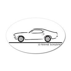 1969 Mustang Fastback 22x14 Oval Wall Peel