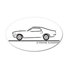 70 Mustang Fastback 22x14 Oval Wall Peel