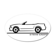 2007 Ford Mustang Convertible 22x14 Oval Wall Peel