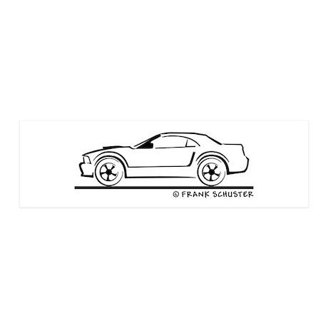 Ford Mustang Convertible Top 42x14 Wall Peel