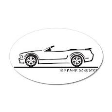 New Ford GT Mustang Convertib 22x14 Oval Wall Peel