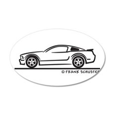 Ford Mustang GT Fastback 22x14 Oval Wall Peel
